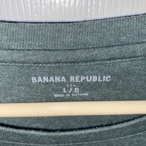 Banana Republic Shirts - Banana republic green football tee